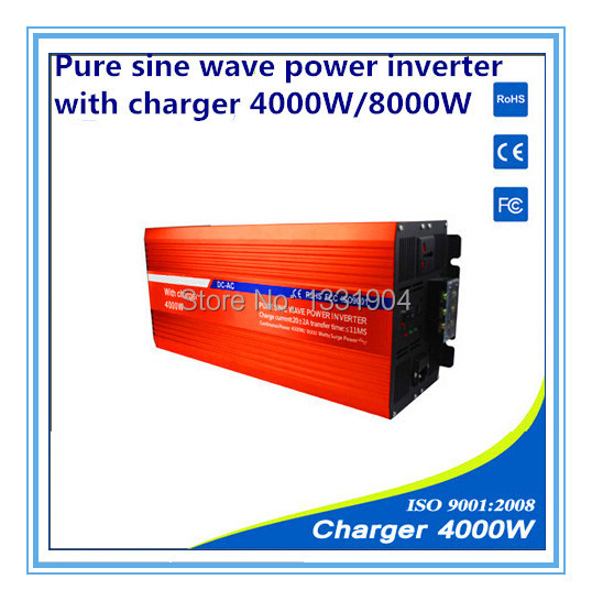 12V to 220V 4000W Pure Sine Wave Power Inverter With Buildin Charger with Automatic Transfer for solar inverter, car inverter(China (Mainland))