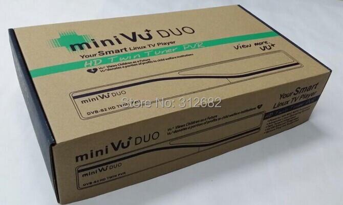 VU+DUO MINI vu duo Twin Tuner satellite receiver Decoder Linux OS 405mhz Processor Support Original vu+ Software free shipping(China (Mainland))