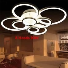 Dimmer Ring Acrylic LED Ceiling Lights Living Room Bedroom Lamps Creative Circle Plafonnier Modern Minimalist Lamparas de Techo(China (Mainland))