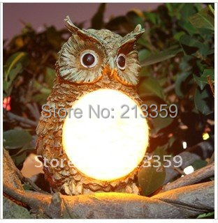 2013NEWEST! FREE SHIPPING FOR SOLAR OWL LIGHT GARDEN YARD DECOR BIRD OUTDOOR LIGHT STATUE