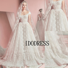 Buy Vintage Zuhair Murad Lace Wedding Dresses 2015 Cheap Lace Backless Princess Wedding Dresses Made China Ball Gown ZM1604 for $201.45 in AliExpress store