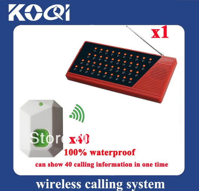Restaurant Table Bell System Table Bell Transmitter 100% waterproof Can show 40 tables in one time