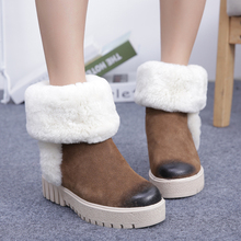 Free Shipping Women Fashion Genuine Leather Ankle Boots Women Winter Warm Snow Boots Size 35~39(China (Mainland))