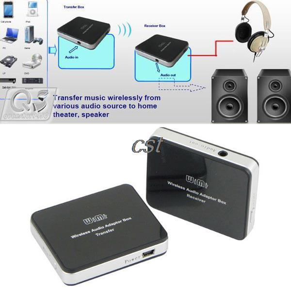 High Quality 2.4GHz Wireless Music Audio Adapter Box Transmitter Receiver for Cell Phone MP3 PC TV Speakers<br><br>Aliexpress