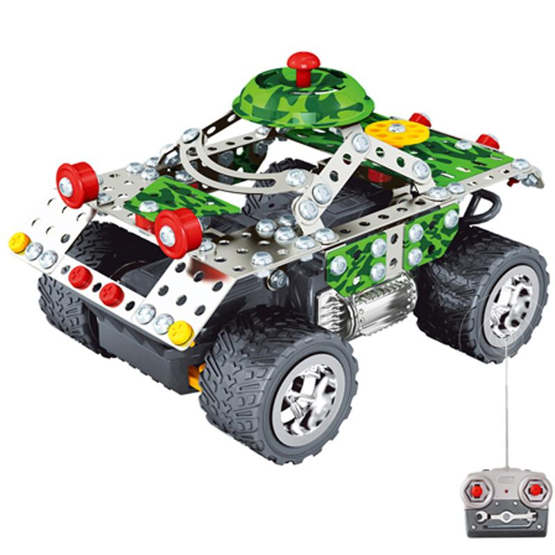 Kids Toys RC Trucks Iron Building Blocks Sets Toys For Gift Items Metal Remote Cars Bricks Li-po Batteries(China (Mainland))