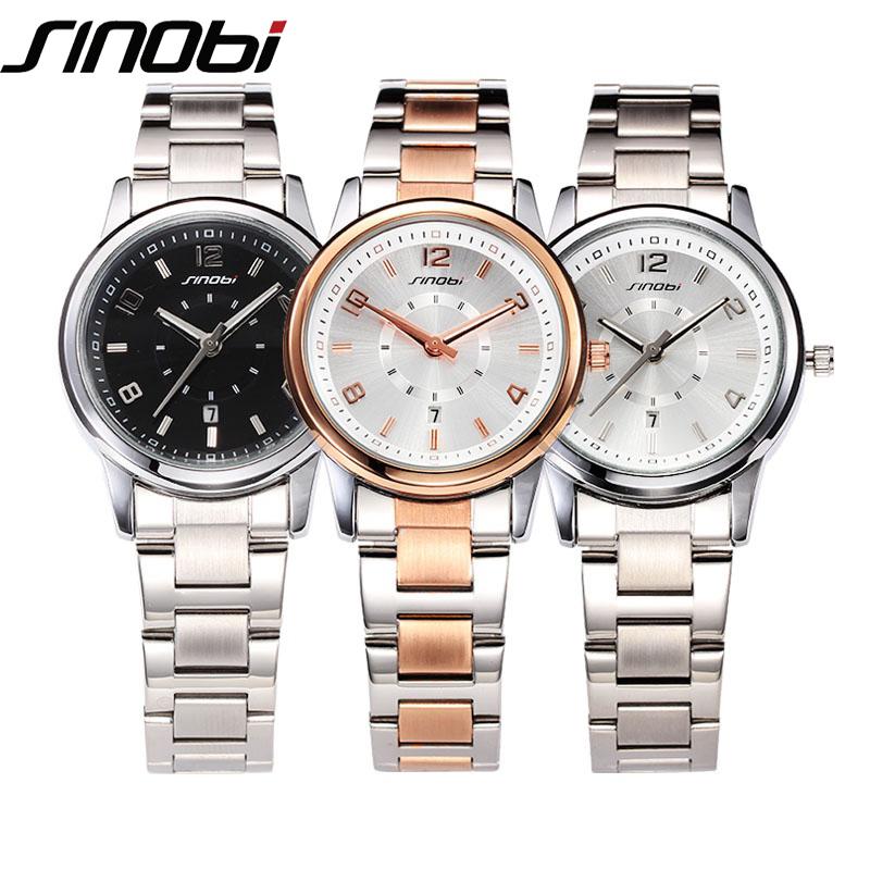 sinobi luxury watches quartz gold