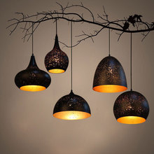 Buy Nordic loft retro Cafe Bar pendant lights Iron single head lamp bar restaurant Lamp industrial wind rust pendant lamps ZH for $89.99 in AliExpress store