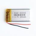 3 7V 250mah 402035 Lithium Polymer Li Po Rechargeable Battery Handheld GPS Navigator Battery DIY Mp3