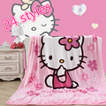Home textiles Cartoon pattern Coral fleece blankets for children can be bed sheet the throws