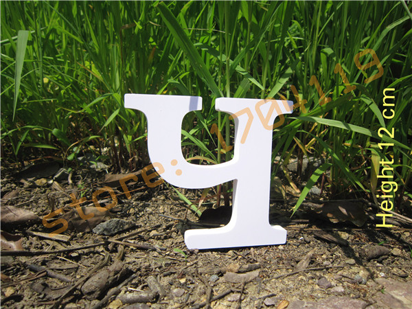12cm Home Decoration Digital number Artificial Wood Wooden Russian Letter Wedding Birthday wood white Letter Low price wholesale(Bulgaria)
