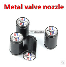 4PCS Horse emblem New Wheel Tire Valve Stem Air Caps Covers For Mustang(China (Mainland))