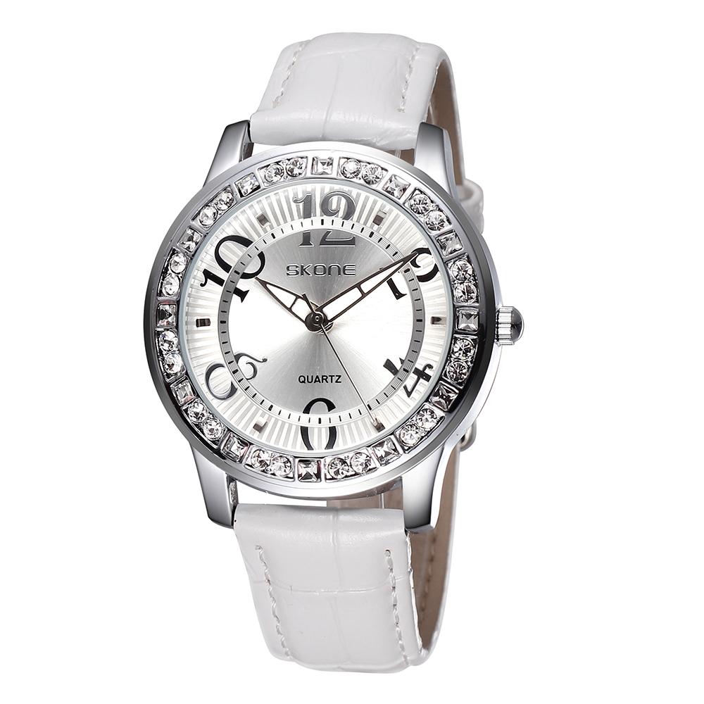skone watches luminous big number rhinestone silver