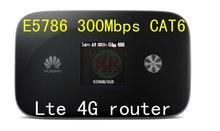 Huawei E5786 300 Mbps LTE Cat6 cat4 4 g LTE MiFi router Cat6 4 g LTE dongle pk e5776 e589 mf90 e5372