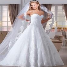 Attraktive Vestido de noiva Schatzspitze Hochzeitskleid 2015 Lace up Zurück vestidos de casamento braut Brautkleider(China (Mainland))
