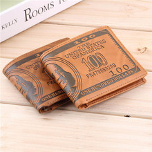 Free Shipping 1 Piece Men Wallet Pockets Card US Dollar Bill Money Wallet Man BIFOLD Wallet Dollar Wallet