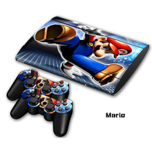 4 style stickers Non-slip Waterproof Protective Host Stickers Case 2pcs Controller Stickers Skins for SONY PlayStation 3 PS3