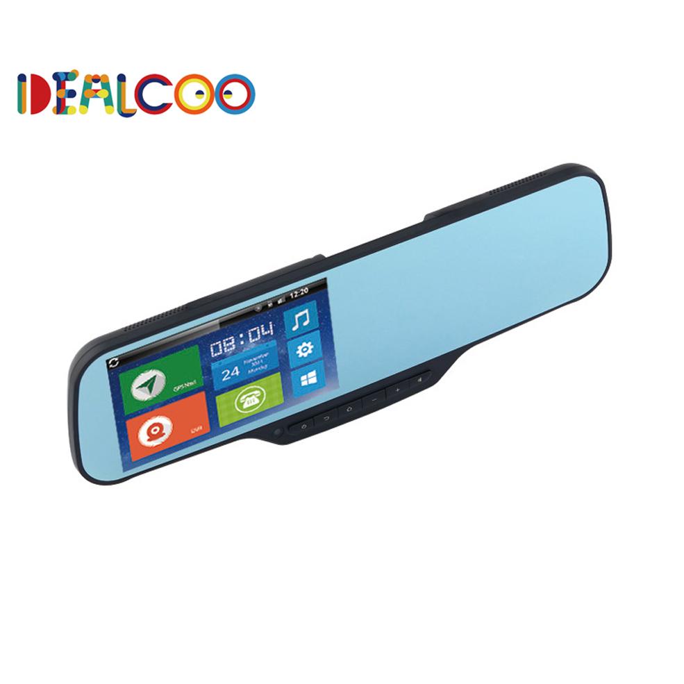 "5"" Touch Android Car DVR GPS Navigation Wifi FM Parking Rearview Mirror Bluetooth Dashcam Dual camera Bluetooth 1GB RAM 8GB ROM(China (Mainland))"