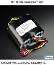 HIFI Amplifier R Type Transformer 0-250VX1 (200mA) 0-9V(3A) 0-26VX1(0.5A) 0-18V(0.5A) for Tube MM/MC Phono Preamplifier PCBA Kit(China (Mainland))