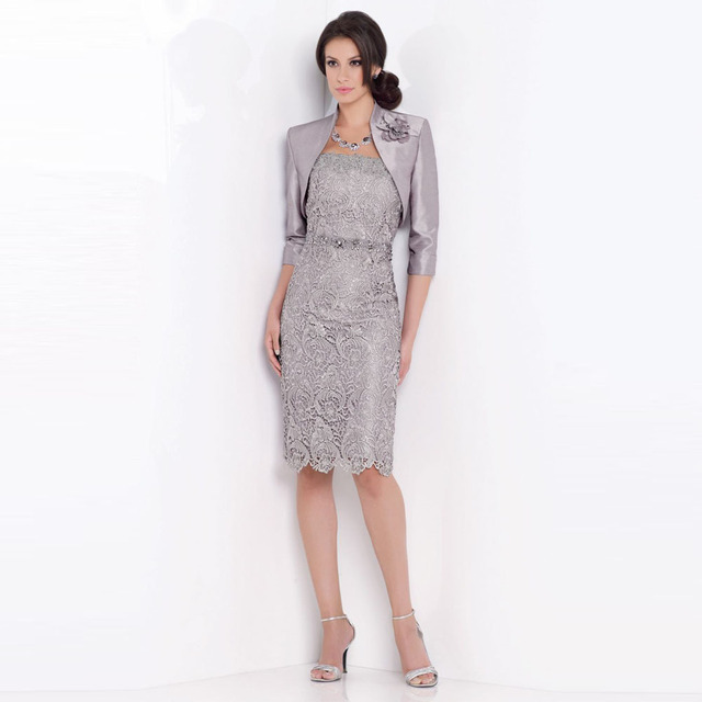Custom Made Mother Of The Bride Dresses With Jacket Lace