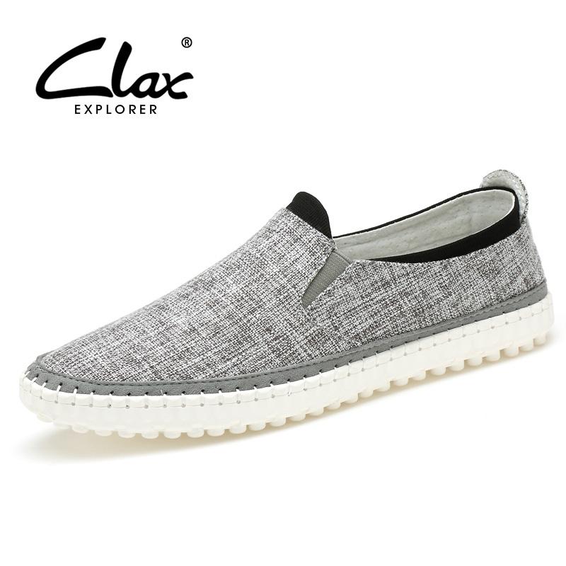 Clax zapato de Lona hombres alpargatas slipony 2016 primavera verano masculino transpirable zapato ocasional de los