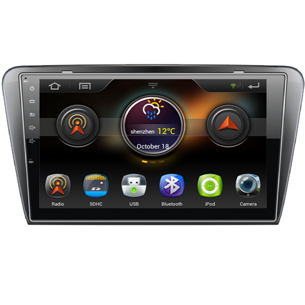 "10.1"" Capacitive Touchscreen Android 4.1 Car Radio DVD Player GPS Navigation For Skoda Octavia With Bluetooth SD/USB No Disc(China (Mainland))"