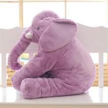 Tamanho grande dos desenhos animados brinquedo de pelúcia elefante crianças dormindo de volta almofada travesseiro de pelúcia animal boneca do bebê presente de aniversário para crianças(China)