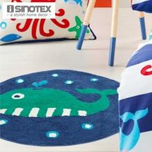 100% Cotton Floor Rug Cartoon Child Soft Kids Carpet Handmade Anti-slip Mat For Living Room Non-slip Handmade Doormat 1pcs/lot(China (Mainland))