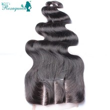 Lace Closure Malaysian Body Wave Human Hair Closure Free Middle 3 Part Lace Closure Bleached Knots Rosa Queen Hair Products