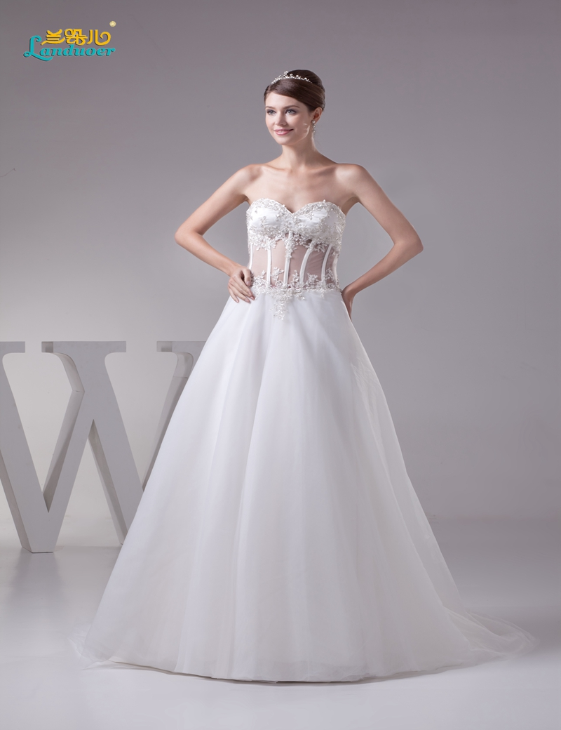 elegant princess a line corset bodice wedding dresses 2016