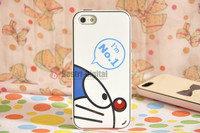1pcs, Japanese Catoon Doraemon With Retail packing, PC+TPU Skin Cover Case for iphone 5/5S, Best for iphone 5 Case, New Look