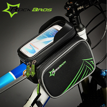RockBros Bicycle Parts Top Frame Bag Mountain Bike Front Trunk Bicycle Pannier Bag 6.0/6.2 inch Mobile Phone Bicycle Cycling Bag