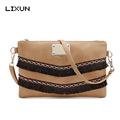 LIXUN Brand European Style Women Leather Handbags Tassel Envelope Crossbody Messenger Shoulder Bags Mini Flap Clutch