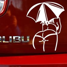 1PC 14*11cm 2016 New Design sexy girls Car stickers Sexy MM Umbrella Body Styling car motorcycles decal styling accessories - Hench's Fashionable Accessories store