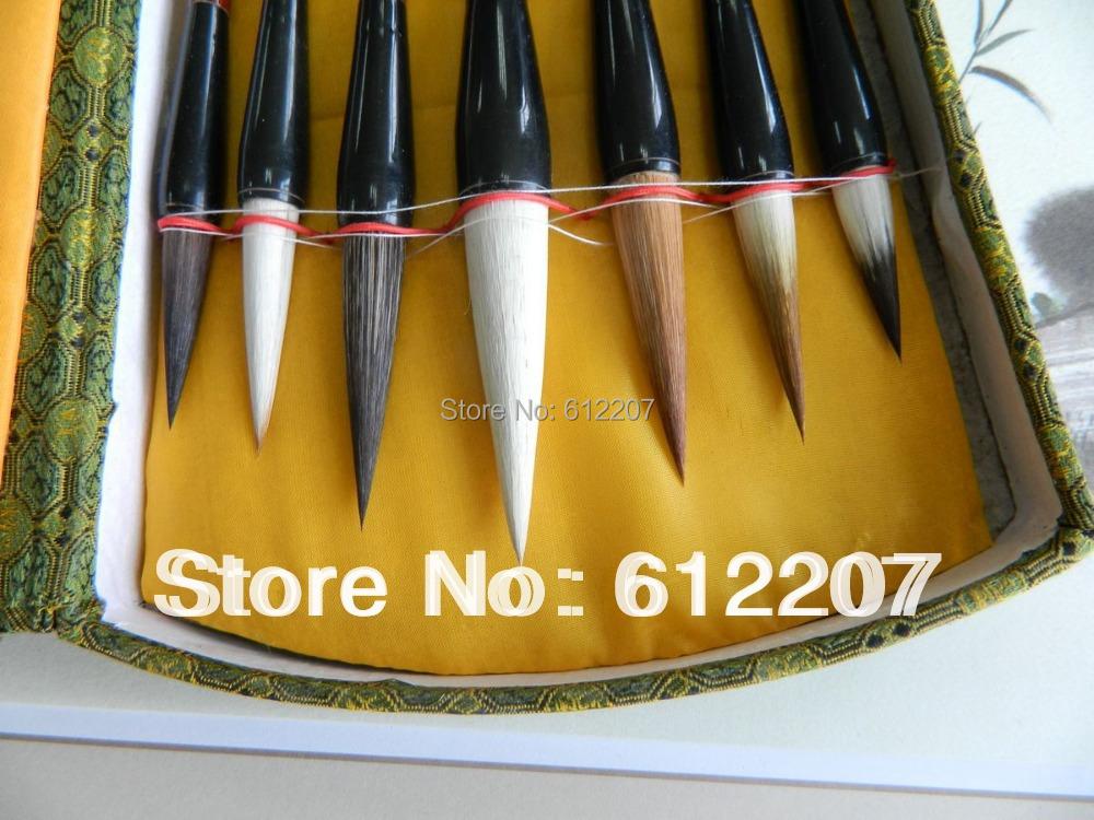 Free shipping &writing brush+five sheet rice paper & Chinese art paper & Traditional Chinese painting &WB02(China (Mainland))