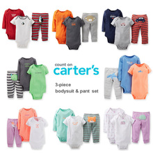 15 Models 3PCS Carter s Baby Boys and Baby Girls Short Long Sleeve Bodysuit Pant Carters