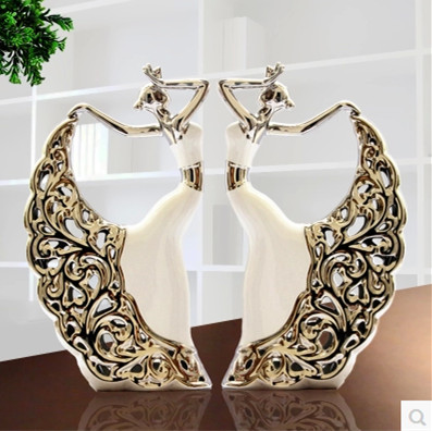 Home Decoration ceramic furnishing articles ceramic women dress Girls clothing and dance shoe dancing belly dance New year gift(China (Mainland))