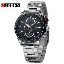 CURREN Brand 3ATM Waterproof Sports Watches Men Full Steel Calendar Analog Quartz Watch Casual Dress Wristwatch 8148