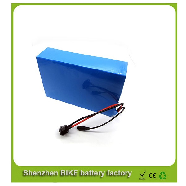 Free shipping China battery manufacture 51.8v 30Ah li ion battery pack 52v 1500w electric bike battery with 30A BMS,charger(China (Mainland))