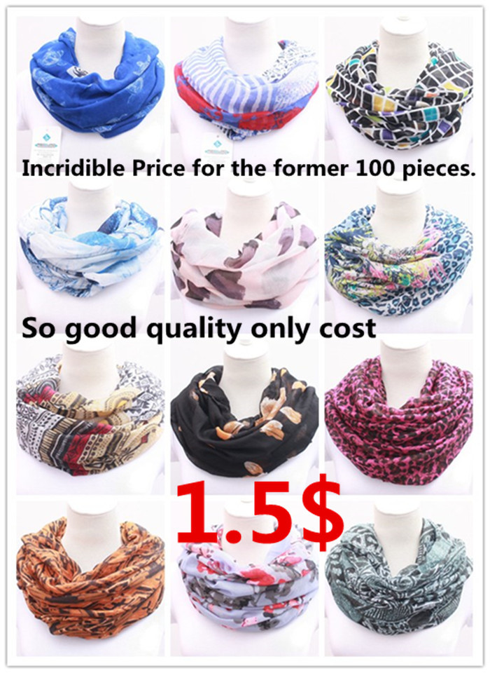 Promote We Neglect The Cost Of Production WomenScarf Infinity 2015 Fashion Autumn Tube Scarves Ladies Wrap Shawl Female Loop(China (Mainland))