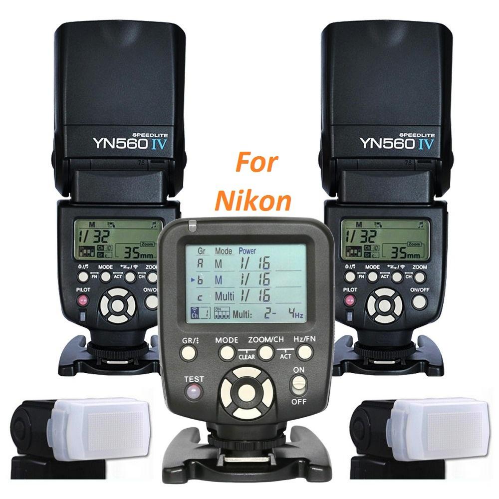 2pcs Yongnuo YN560IV 560IV Speedlite Speedlight + YN560-TX Wireless Flash Controller for Nikon DSLR D100 D90 D80 D3000 D5000(China (Mainland))