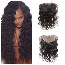 Custom Peruvian Body Wave Best Lace Frontal Closure 13×6 Ear To Ear Virgin Hair Swiss Lace Frontal With Baby Hair Natural Black