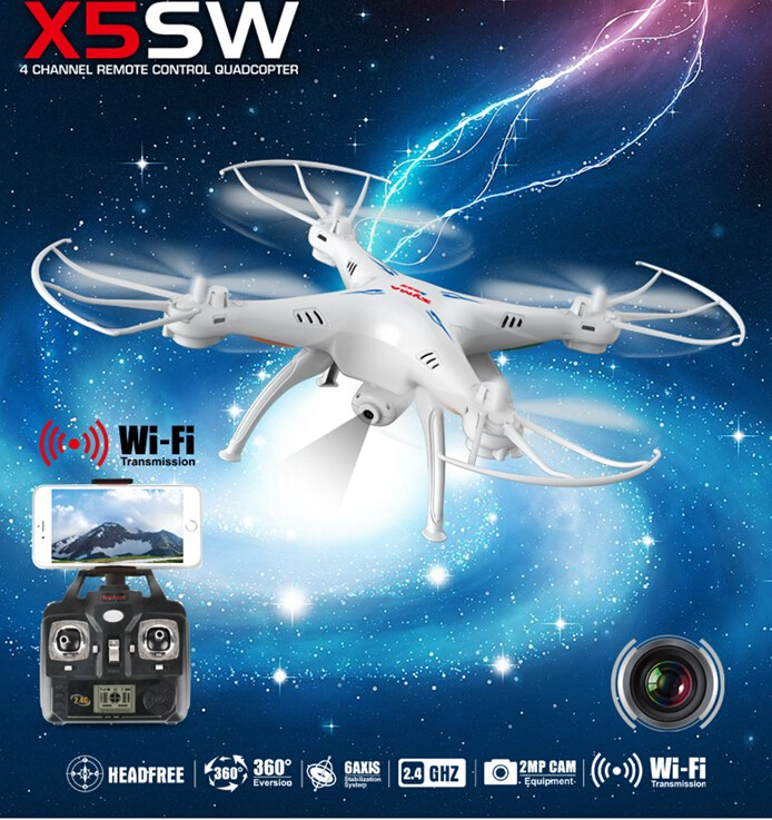 Syma X5SW Explorers 2 Wifi FPV 2.4G 6-Axis Real Time RC Quadcopter 2.0MP Camera RTF RC Drone With Camera fpv(China (Mainland))