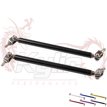 KYLIN STORE - Free shipping Universal Adjustable 15cm Racing Front Bumper Lip Splitter Rod Strut Tie Bar Support Kit