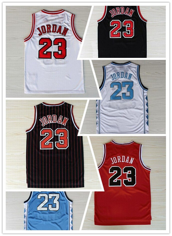 High Quality For Chicago #23 Michael Jordan Classic Throwback Basketball Jerseys In White Black Red Embroidery Logos HOT SALE!!!(China (Mainland))