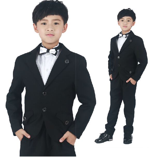 2014 Autumn New Male Child Elegant Formal Wedding Suits Set Boys Birthday Prom Costume Blazer ...
