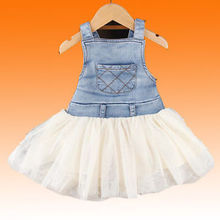 Details about 2014 Retro Kids Baby Girls Clothes Summers Denim Tulle Dress Age 6M-4Y Outfits R(China (Mainland))