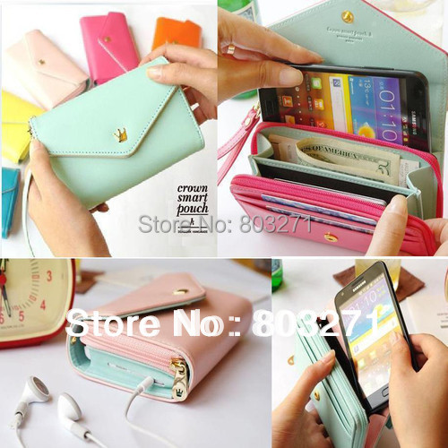 2015 New Women's Multi Propose envelope Wallet Purse for Samsung Galaxy  i phone 4 5 6 Large Screen Phone Bag Women Purse Wallet
