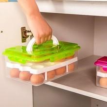 JJ302 Egg Food Container Storage box 24 grid Bilayer Basket  organizer home kitchen Gadgets Items Accessories Supplies Products