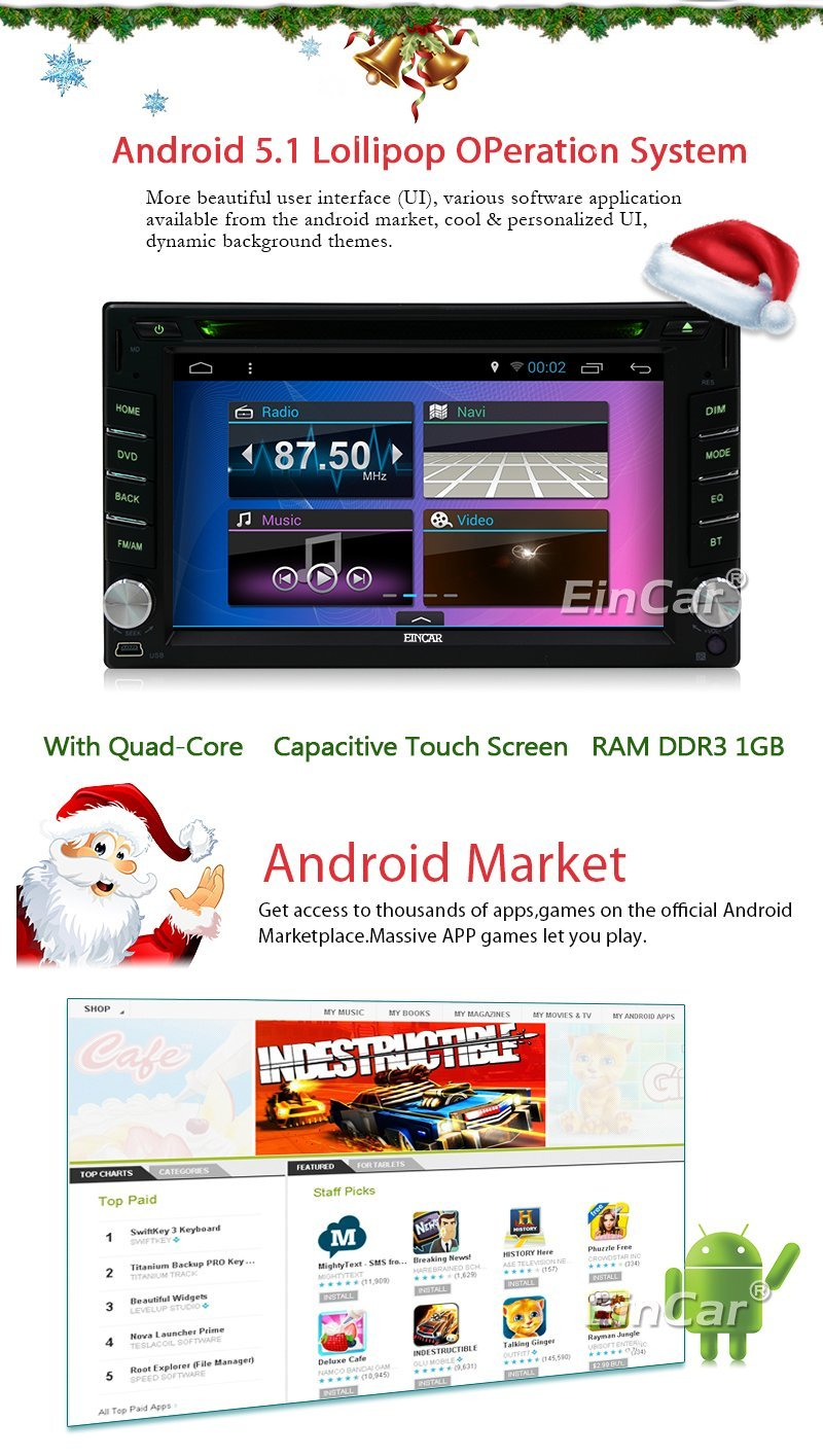 Android 5.1 GPS Navigation Radio Car PC Electronics Multimedia Bluetooth Autoradio two Din Auto DVD Player Car Stereo HeadUnit