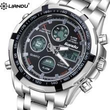 Watch relogio masculino LIANDU Chronograph Watch Luxury Brand Men's Waterproof Quartz Watch Casual Multiple Time Zone Watches